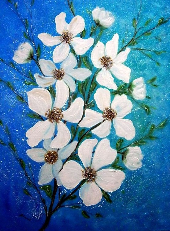 White flowers 3 - Image 0