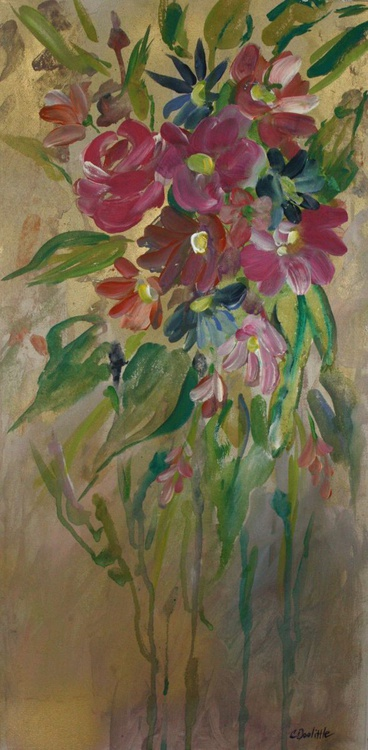 Flowers On Gold - Image 0