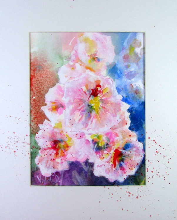 Abstract Hollyhocks 2 - Image 0