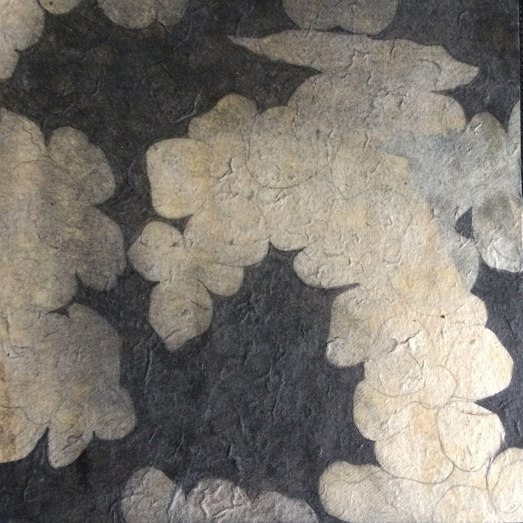 Blossom drawing mounted on wooden panel - Image 0