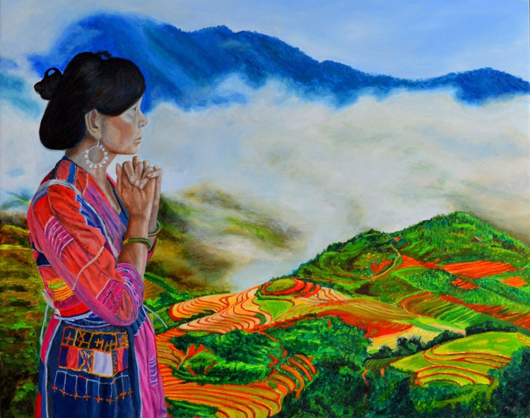 The Icon - Pa Then Hill Tribe - Hmong - rice terraces - sapa - vietnam - Image 0