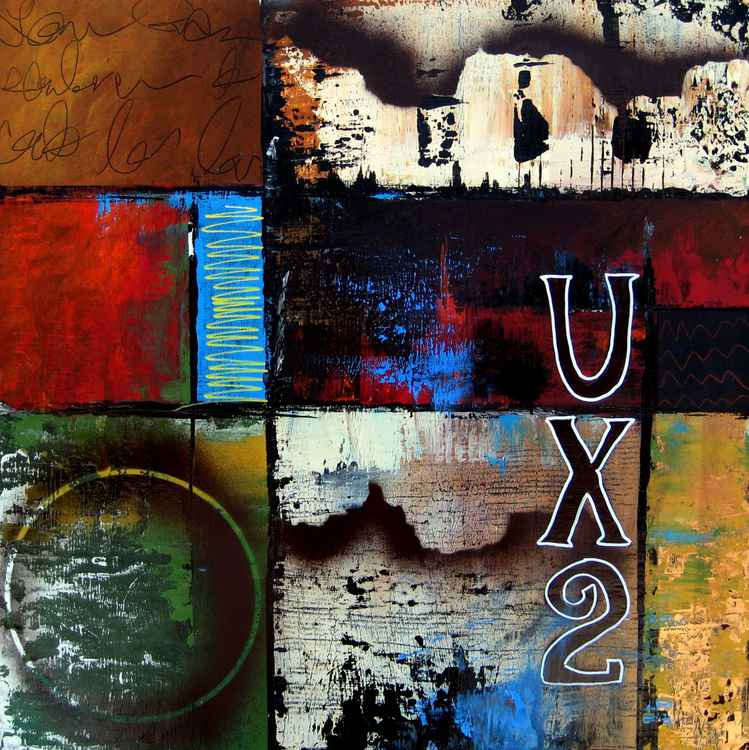 UX2 - Original Abstract painting Modern pop Art Contemporary by Fidostudio