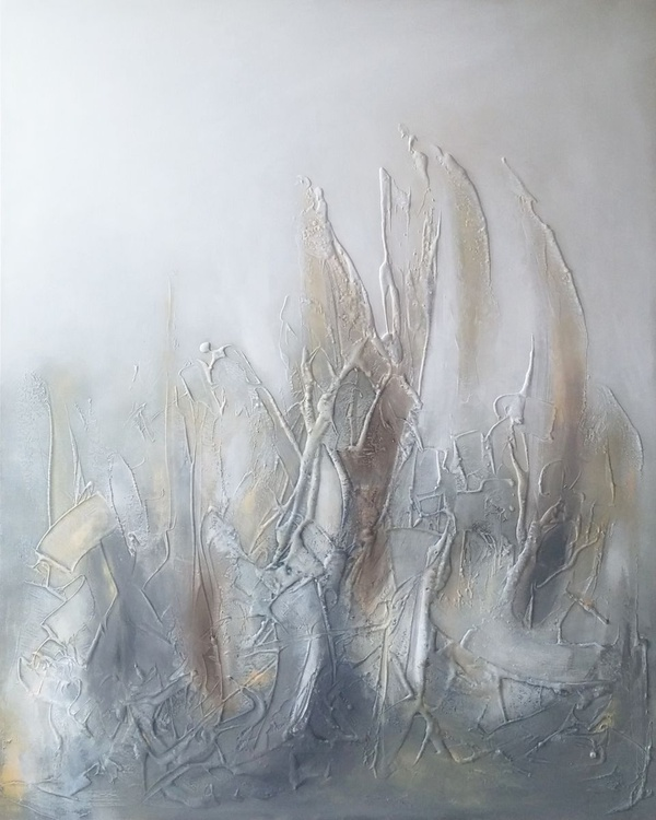 Reserved for Clare. Large Textured abstract painting - Image 0