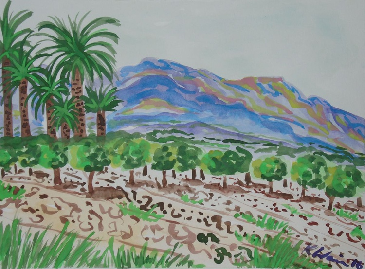 Mountains, Palms and Orange trees II - Image 0