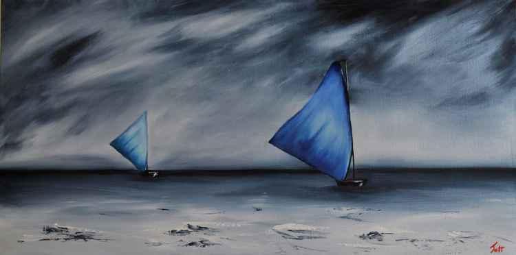 Boats at sea -