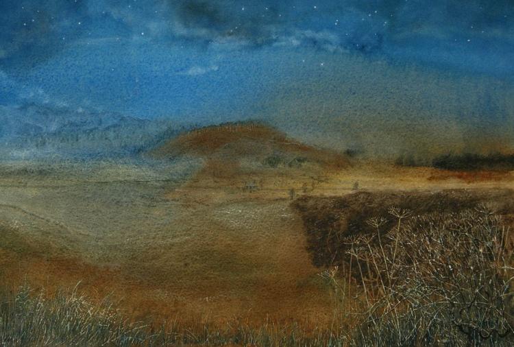 Imaginary Landscape, Bright Moonlit Night - Image 0