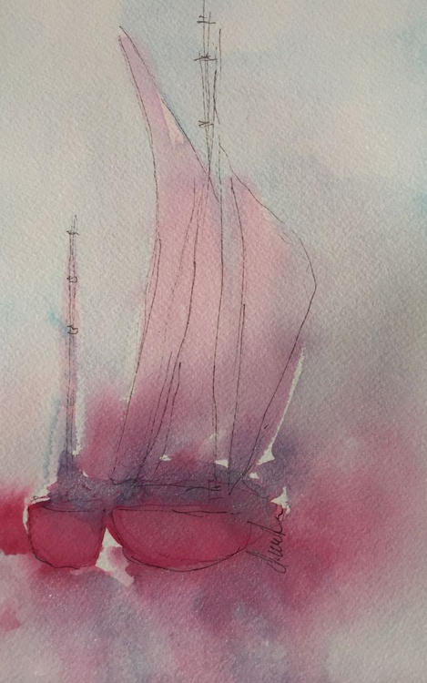 Red Sailboat SOLD - Image 0
