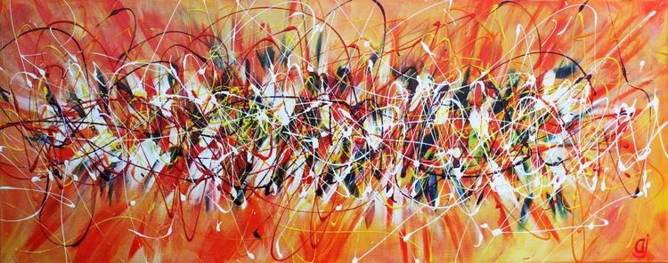 Drip Art Acrylic Abstract on Canvas - Image 0