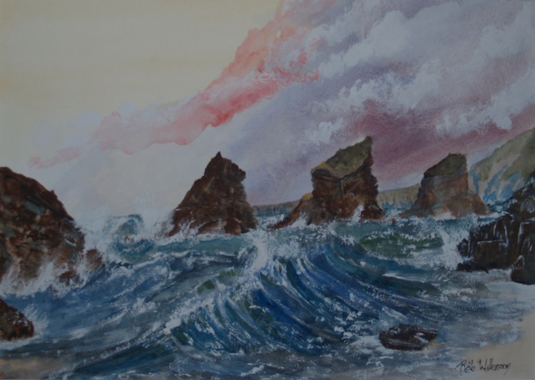 Stormy Seas, Bedruthan Steps - Image 0