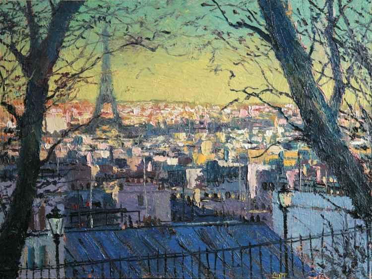 Above Paris, from Montmartre
