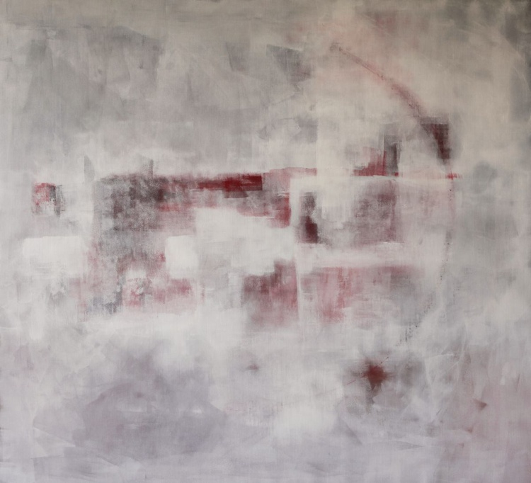 Dominantion of white, comp. #2,  110x100cm - Image 0