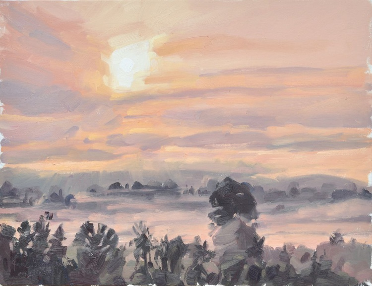 June 11, Loire Valley, sunrise mists - Image 0
