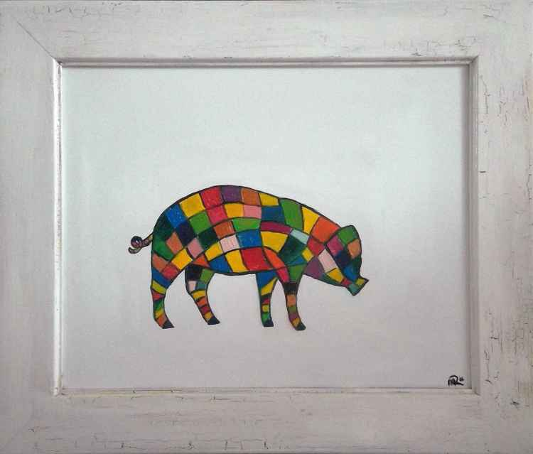 Piggin patchwork [free shipping]