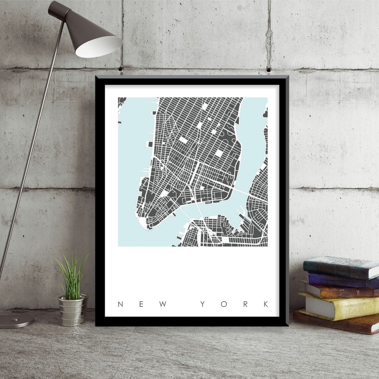 New York Map Art Limited Edition Print - Image 0