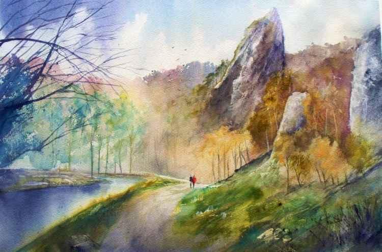 Tissington Spires, Dovedale - Original Watercolour Painting