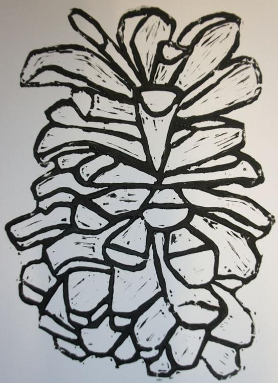 Pinecone Linocut - Image 0