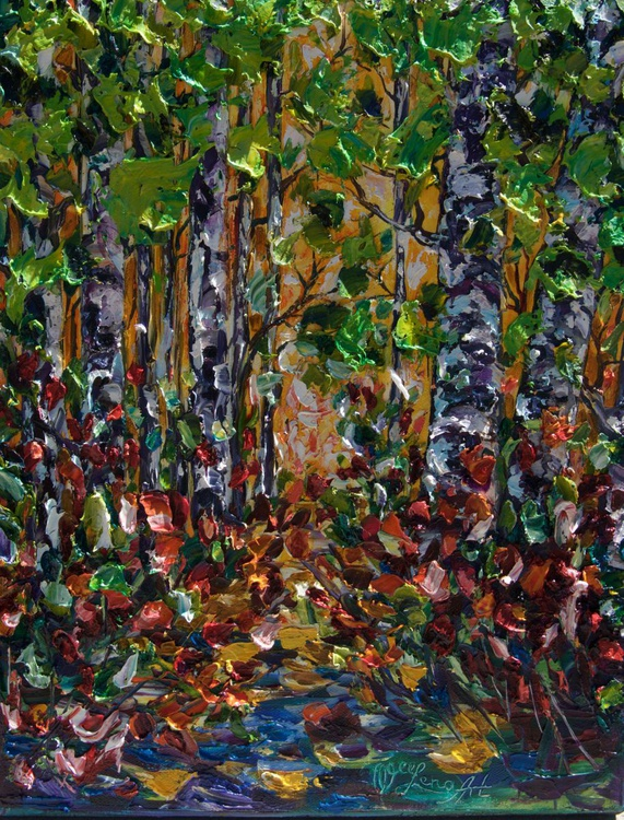 Deep in the Woods (Palette Knife) - Image 0