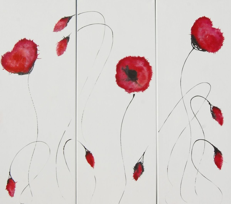 Remembrance Poppy Triptych - Image 0