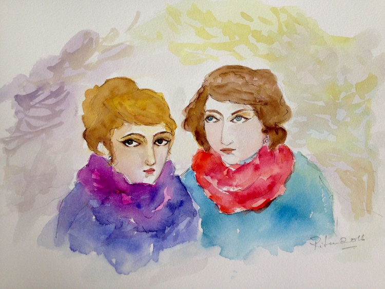 Conversations between the red and purple scarves - Image 0