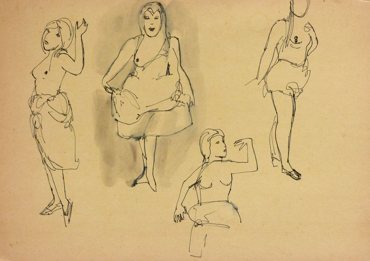 Study of Dancers, 29x21 cm - Image 0