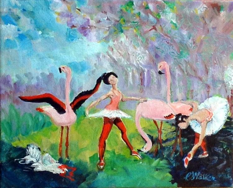 les Flamants Danceuses -   Dancing Flamingos - Image 0