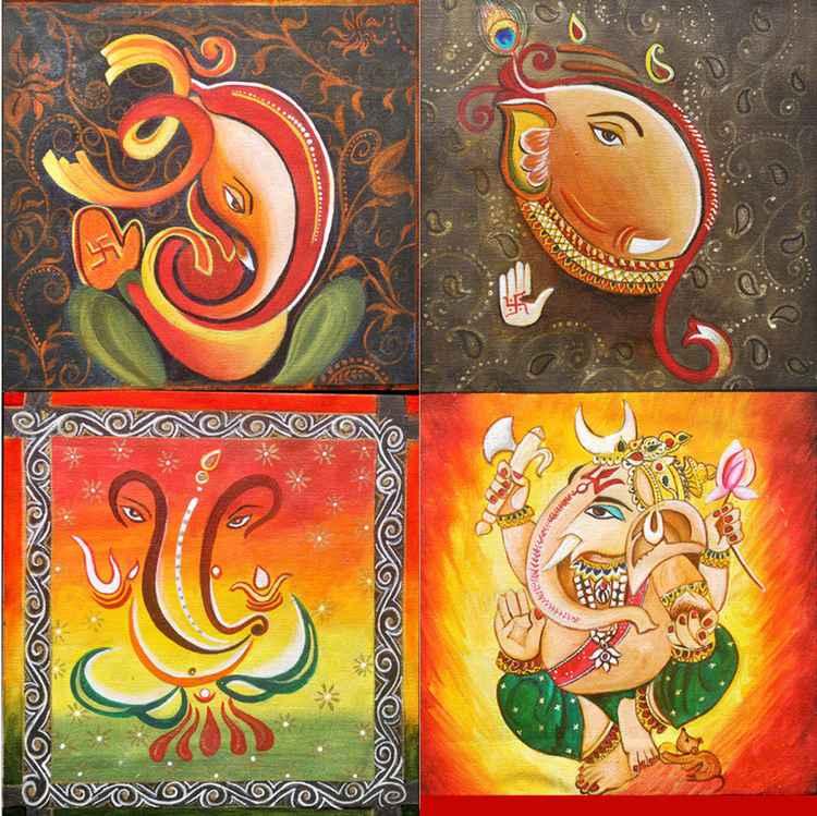 Shri Vinayaka - Original Painting -