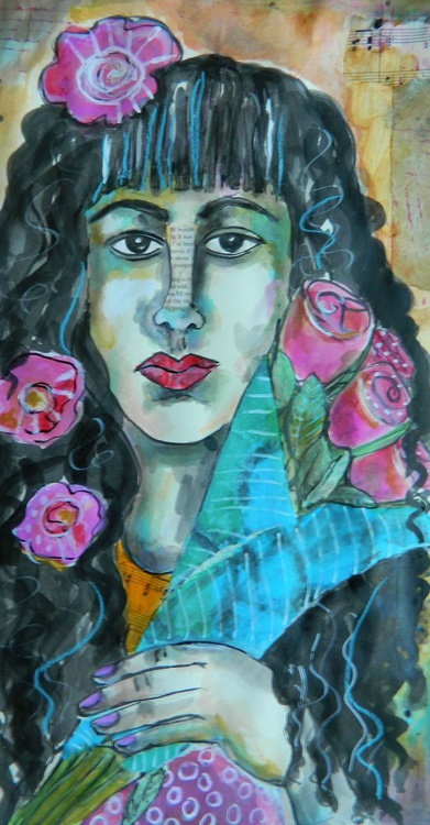 Femme et Fleurs - Image 0