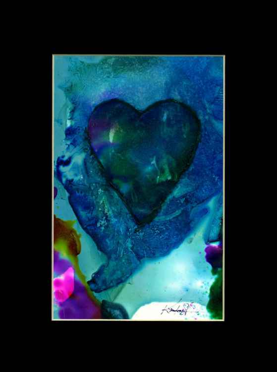 Heart Watercolor Painting, Abstract - Eternal heart No. 14 -