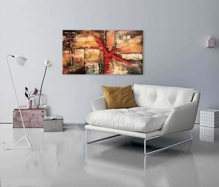 ABSTRACT II  - Original Abstract on Gallery Wrapped Canvas - Ready To Hang!!! - Image 0