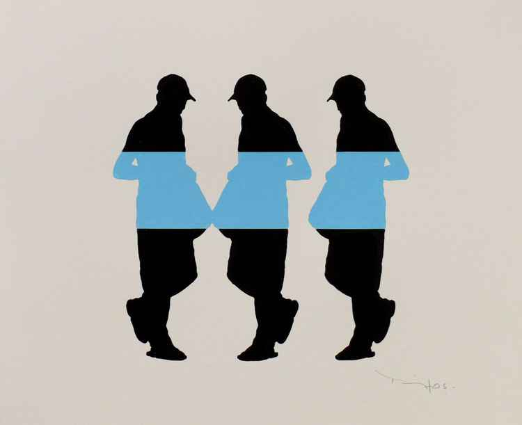 Three men with bag 05 -  Tehos