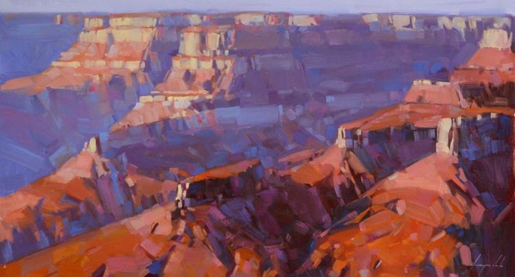 Grand Canyon Arizona Original large painting on canvas Painting in handmade - Image 0