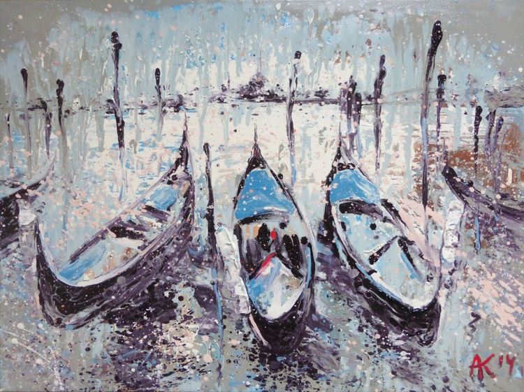 Venice. original oil painting. 80x60 cm. ready to hang - Image 0