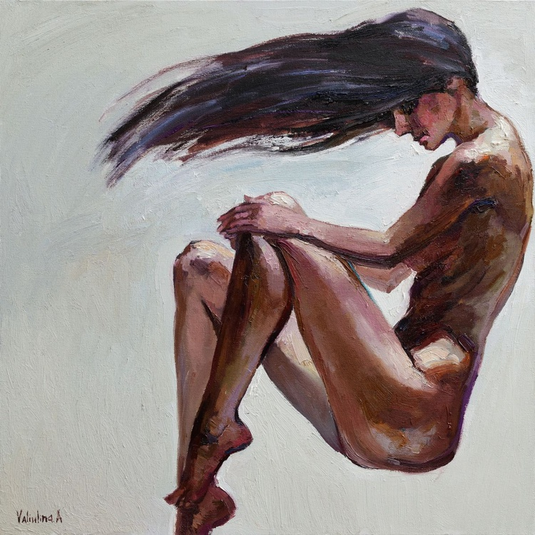 The Element of Wind - Oil Portrait Painting - Image 0