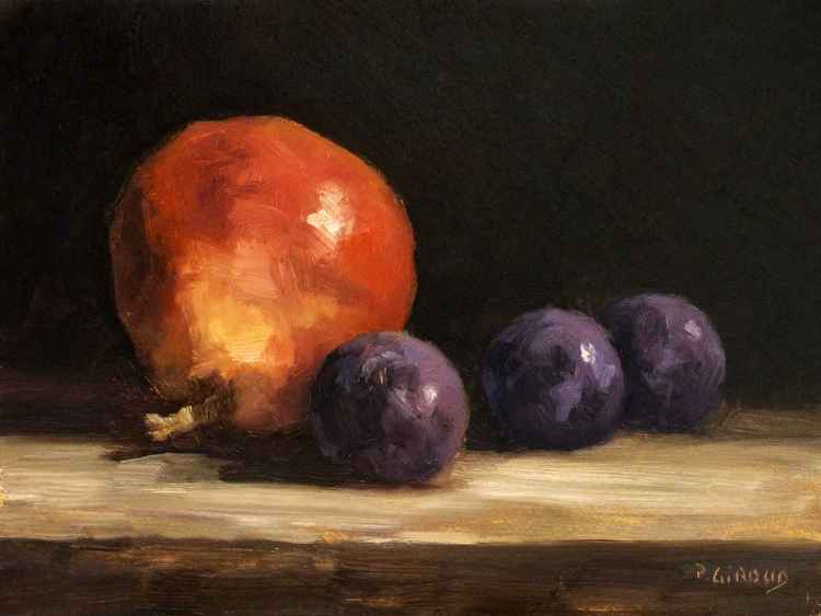 3 Plums and a Pear -