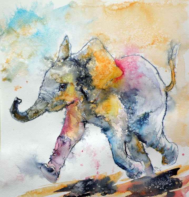 Playing elephant baby II -