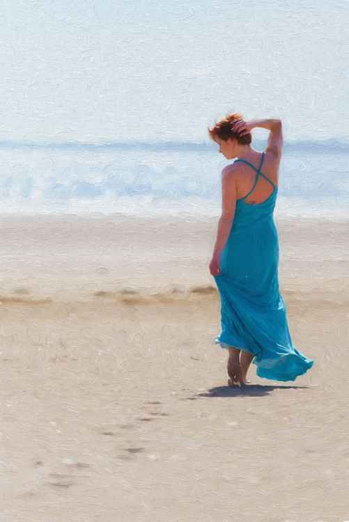 Blue on the Beach -