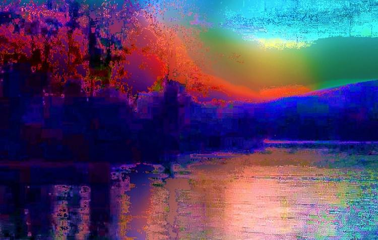 Olin Lake Island abstract2 - Image 0