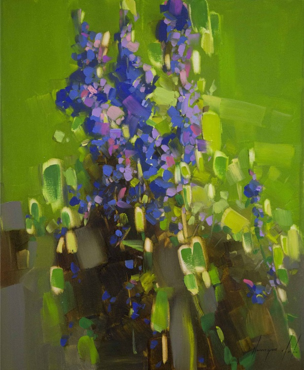 Lavenders Contemporary oil painting on canvas - Image 0