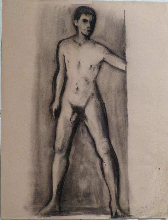 Nude Self-Portrait #4, 65x50 cm - Image 0