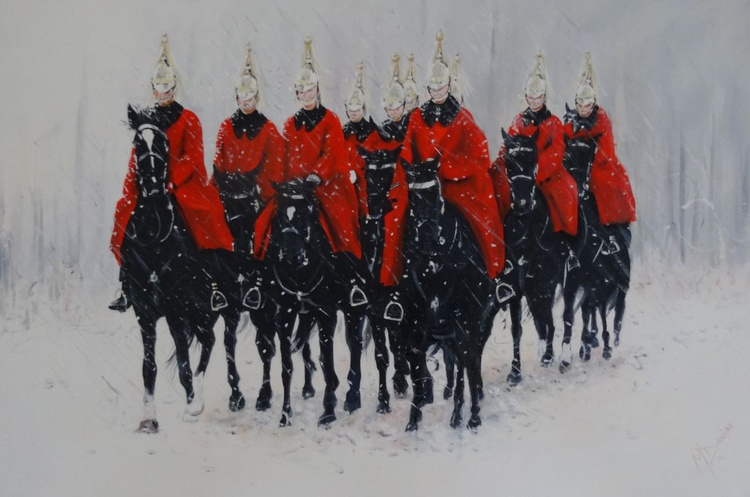 The Household Cavalry Ride. - Image 0
