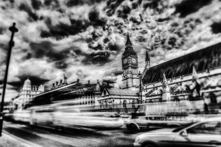 London in Motion - Large Framed - Single Edition