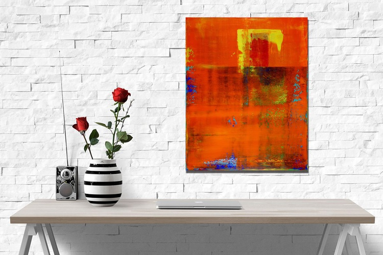 A piece of fall II - Brushed Metal Frame with Signature on Front! - Image 0