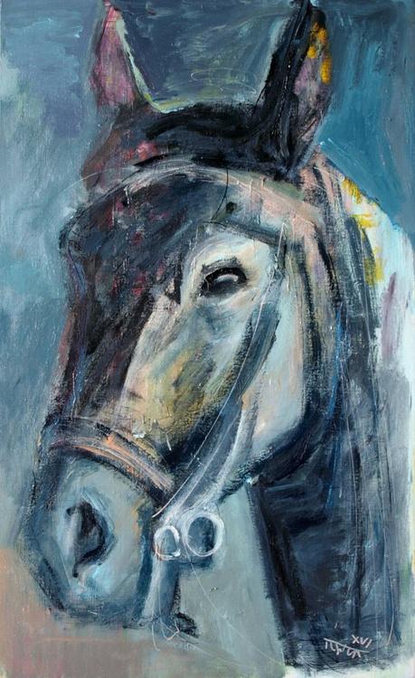 the blue rebel (a Lusitan horse head study) - Image 0