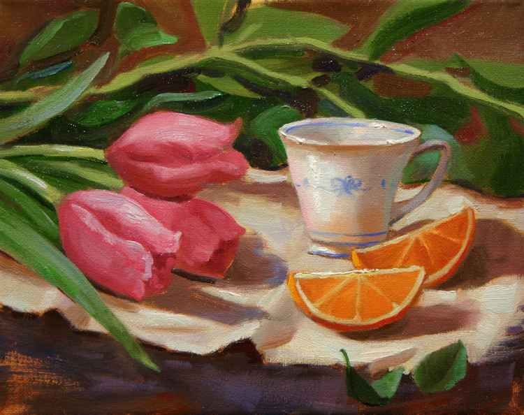 Tulips and Tea Cups -
