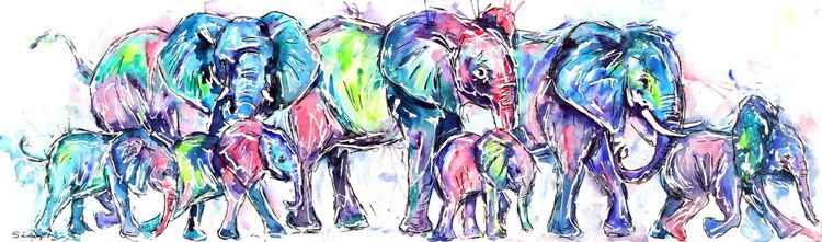 Marching Elephants -