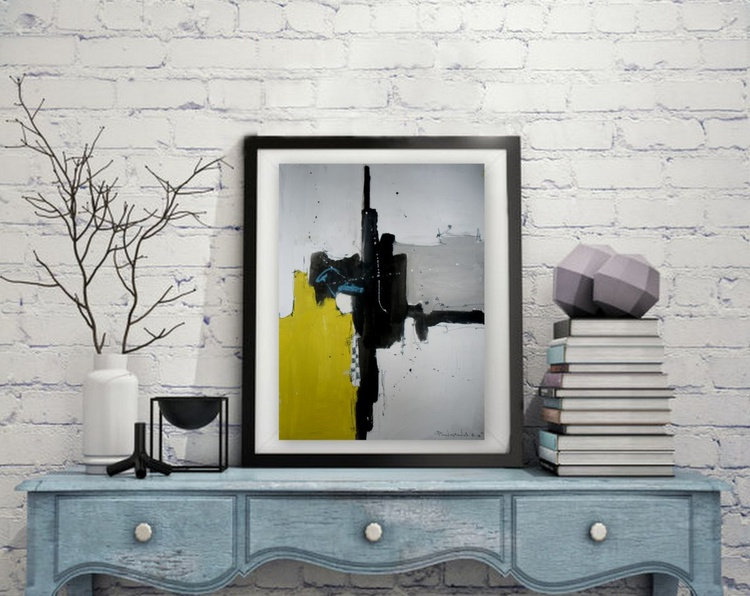 Yellow No 128, Abstract paper collection - Image 0