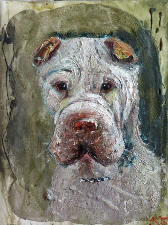 true friend, original painting 30x40 cm - Image 0