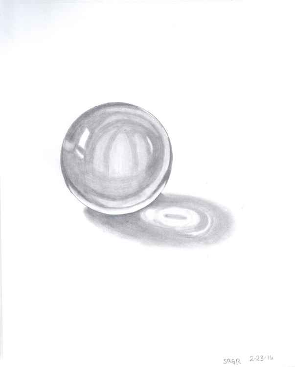 0002 Crystal Ball 02 Drawing -