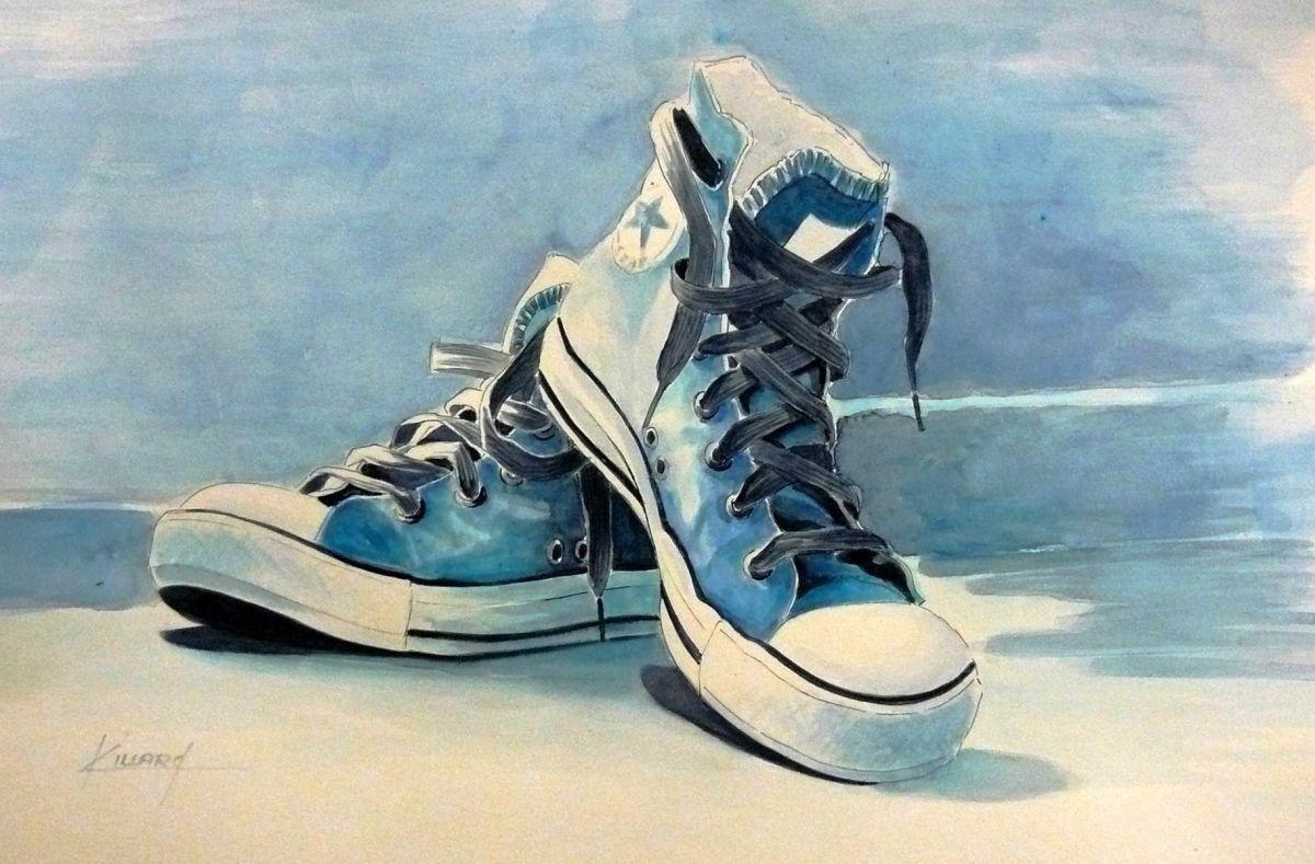 sport shoes quot converse quot 2016 drawing by karine villard