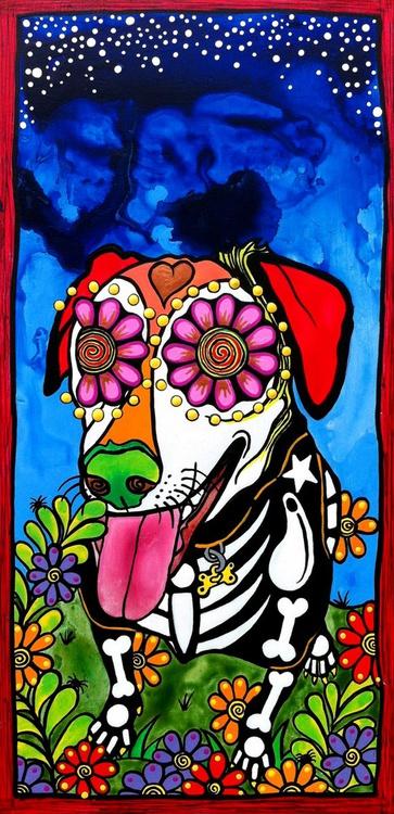 Happy Sugar Skull Labrador Retriever - Image 0
